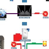 Schemat podłączenia wideodomofonu IP z acces-pointem