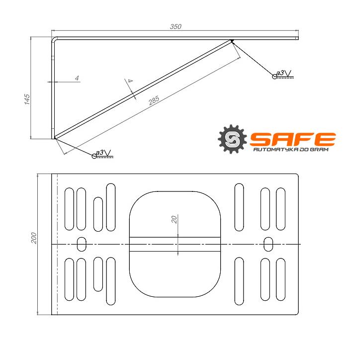 Wymiary podstawy pod silnik Safe
